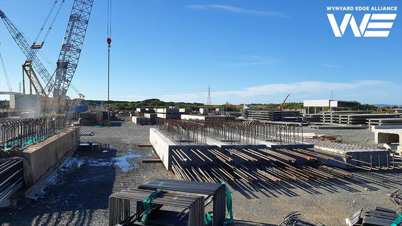 Precast headstocks under construction in Whangarei before being barged to Auckland - America's Cup base development - Wynyard Edge Alliance - Update March 28, 2019  - photo © Wynyard Edge Alliance