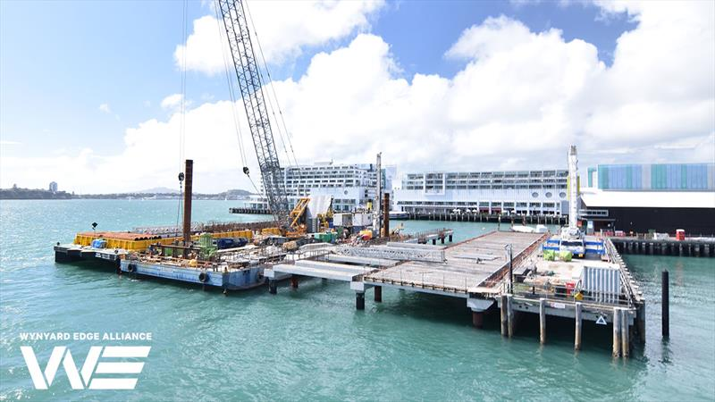 Hobson Wharf Extension - Wynyard Point - America's Cup base development - Wynyard Edge Alliance - Update March 28, 2019  - photo © Wynyard Edge Alliance