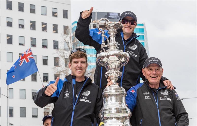 Peter Burling, Glenn Ashby and Grant Dalton - America's Cup Parade - June 2017 - photo © Carlo Borlenghi