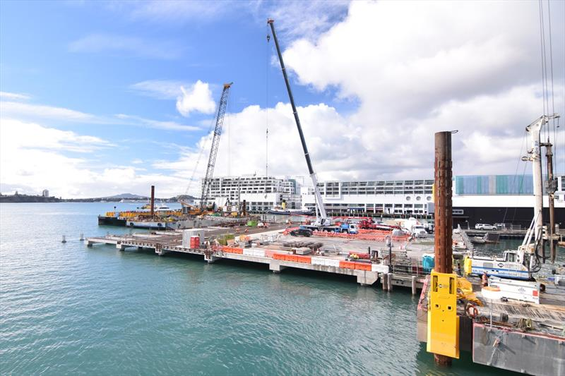 America's Cup: Base construction on target- Timelapse Video