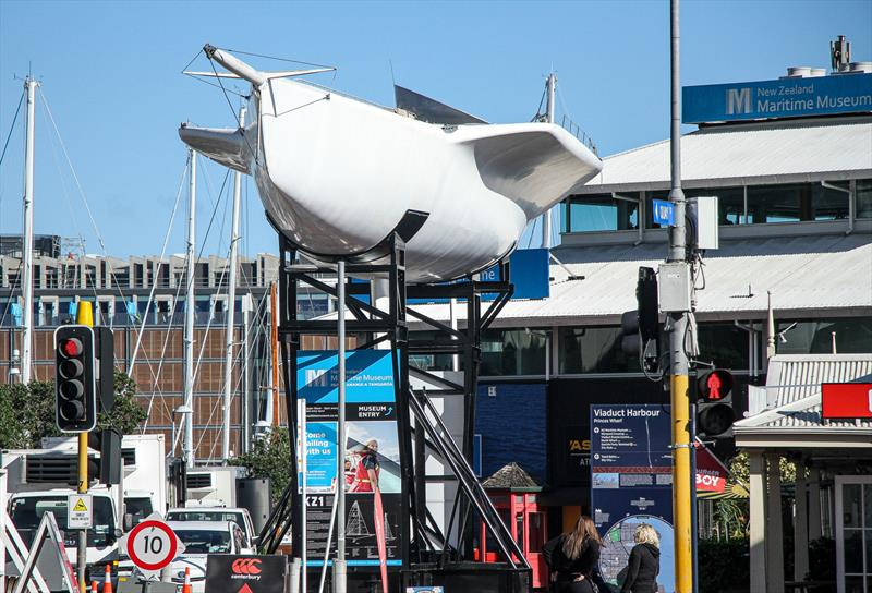 The 1988 America's Cup Challenger is also permanent display in the America's Cup Village - photo © Richard Gladwell