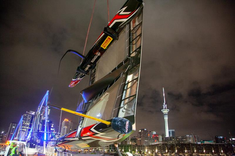 Emirates Team New Zealand put the America's Cup champion AC50 on public display at the America's Cup Village - photo © Emirates Team New Zealand