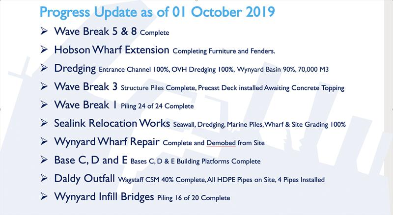 Status update - America's Cup base construction update - October 2019 - photo © Wynyard Edge Alliance