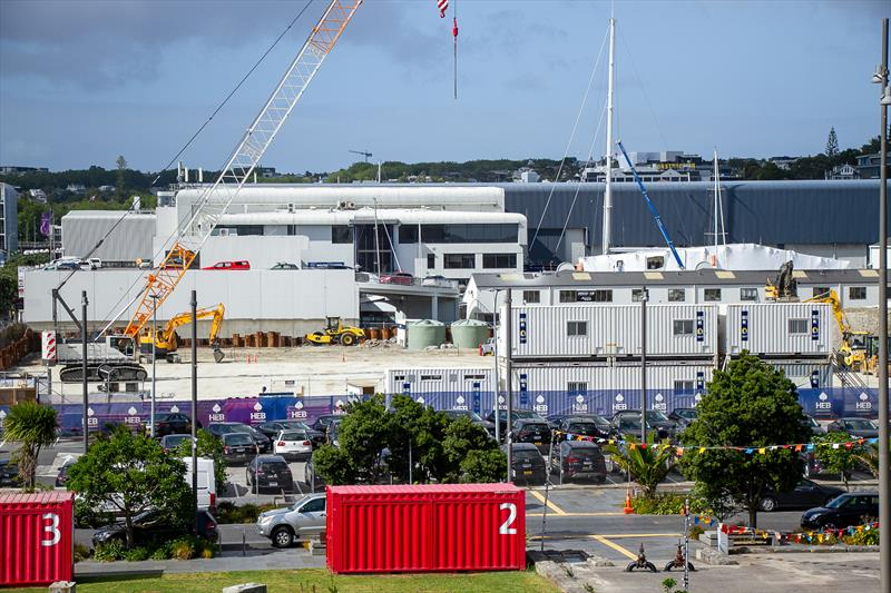Development well underway on Site 18/Orams Marine new superyacht servicing facility - America's Cup Construction - January 7, 2019 - photo © Richard Gladwell / Sail-World.com