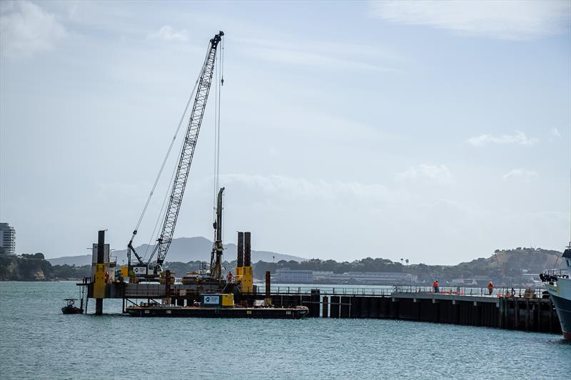 Halsey Street extension alongside ETNZ base - America's Cup Construction - January 7, 2019 - photo © Richard Gladwell / Sail-World.com