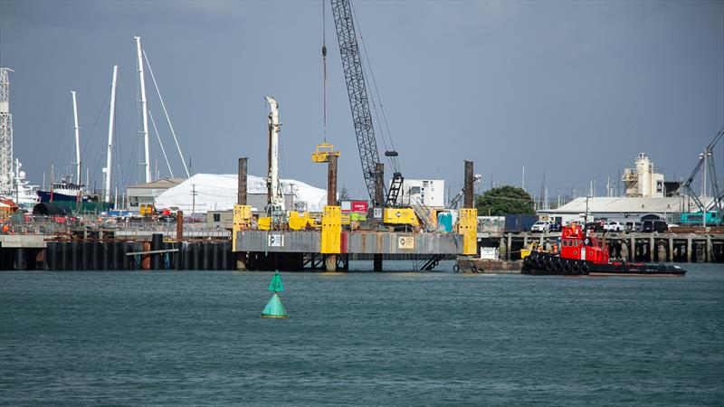 Halsey Street extension under construction which will take the media centre and AC administration - America's Cup Construction - January 7, 2019 - photo © Richard Gladwell / Sail-World.com