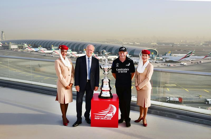 Sir Tim Clark (left), President of Emirates airline and Grant Dalton, Emirates Team New Zealand Chief Executive - photo © Emirates airline