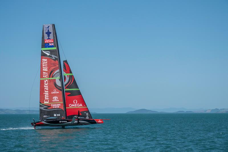 Emirates Team New Zealand's AC75 'Te Aihe' on the Waitemata Harbour in Auckland, New Zealand 36th America's Cup - photo © Emirates Team New Zealand
