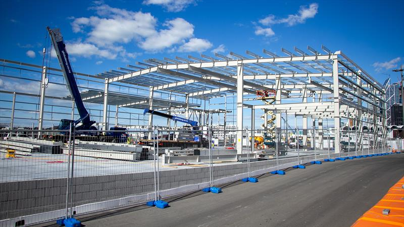 INEOS Team UK base framework - America's Cup Bases - March 17, 2020 - Wynyard Point - photo © Richard Gladwell / Sail-World.com
