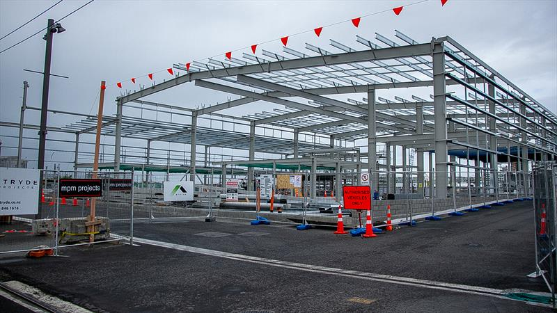 INEOS Team UK base takes shape - street perspective - America's Cup bases - Wynyard Point - March 24, 2020 - Auckland - photo © Richard Gladwell / Sail-World.com