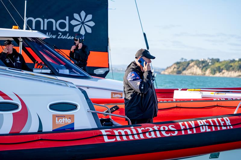 Huawei NZ have signed on as Official Smart Device Partner with Emirates Team NZ and are launching the P40 device in New Zealand © Emirates Team New Zealand