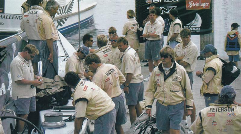 Peter Blake dockside - 1995 America's Cup  - photo © Sally Samins