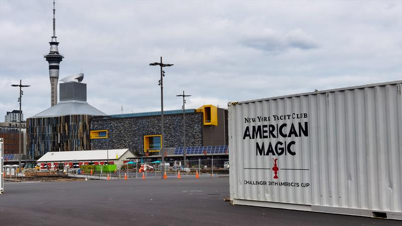 American Magic base construction - America's Cup - Auckland - July 4, 2020 - photo © Richard Gladwell / Sail-World.com