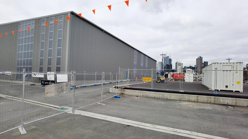 INEOS Team UK base construction - America's Cup - Auckland - July 4, 2020 - photo © Richard Gladwell / Sail-World.com