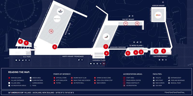 Graphic of America's Cup Race Village  - photo © CoR36