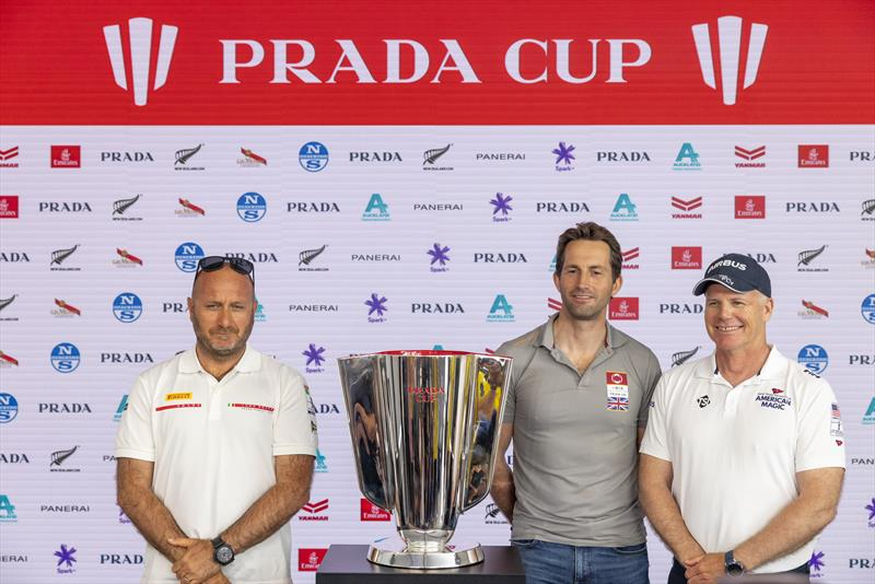 Max Sirena, Ben Ainslie and Terry Hutchinson - Media Conference - Prada Cup - Auckland - January 14, 2021 - 36th America's Cup presented by Prada - photo © Carlo Borlenghi / Luna Rossa