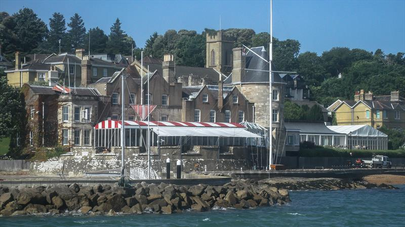 The Castle - base of the Royal Yacht Squadron, Cowes, Isle of Wight - June 2019 - photo © Richard Gladwell / Sail-World.com
