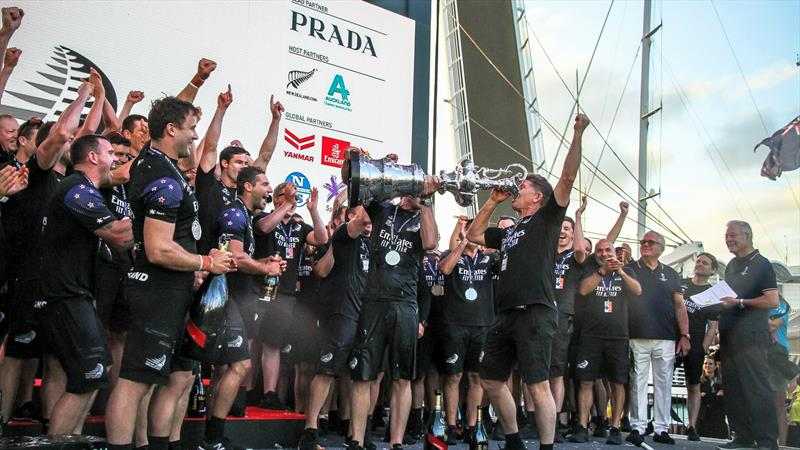 Shore team and build manager, Sean Regan - Emirates Team NZ - America's Cup - Day 7 - March 17, 2021, Cup Presentation - photo © Richard Gladwell / Sail-World.com