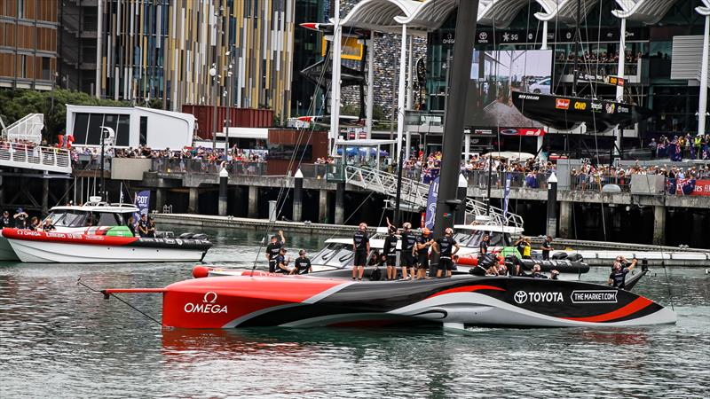 Emirates Team NZ prepare to leave their base - America's Cup - Day 6 - March 16, 2021 - photo © Richard Gladwell / Sail-World.com / nz