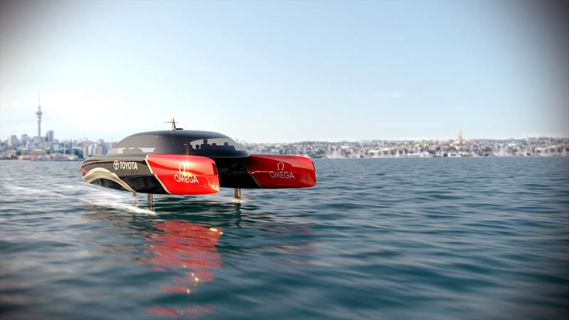 Emirates Team New Zealand has the design and development of hydrogen powered foiling chase boats underway for AC37 © Emirates Team New Zealand