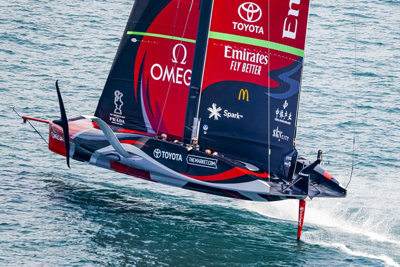 Emirates Team New Zealand sailing in the AC36 Cup Match - Race Day 5 - photo © Carlo Borlenghi