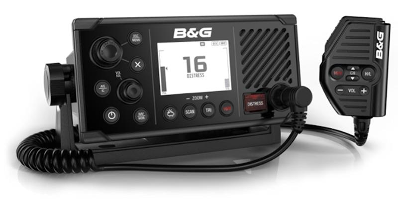 The V60-B mid-level VHF radio, the first with the capability to send and receive AIS position data - photo © B&G