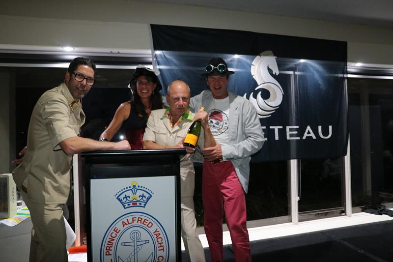 Collecting the award for best dressed at the 2018 Beneteau Pittwater Cup photo copyright John Curnow taken at Royal Prince Alfred Yacht Club and featuring the Beneteau class