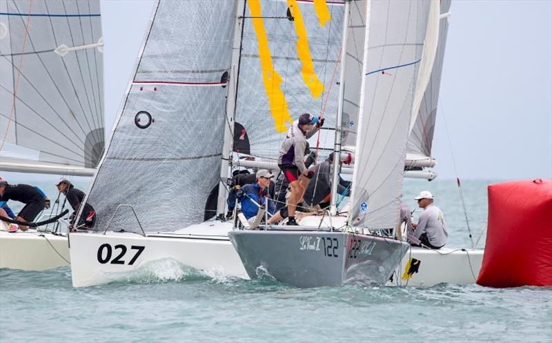 Little space at the mark-roundings in the Platu races - photo © Guy Nowell