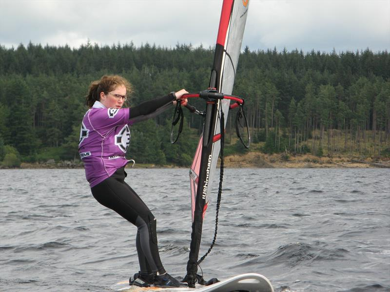 Annabelle Scullion, winner of the 4.5 fleet in the T15 windsurfing at Kielder Water photo copyright John Scullion taken at Kielder Water Sailing Club and featuring the Bic Techno class