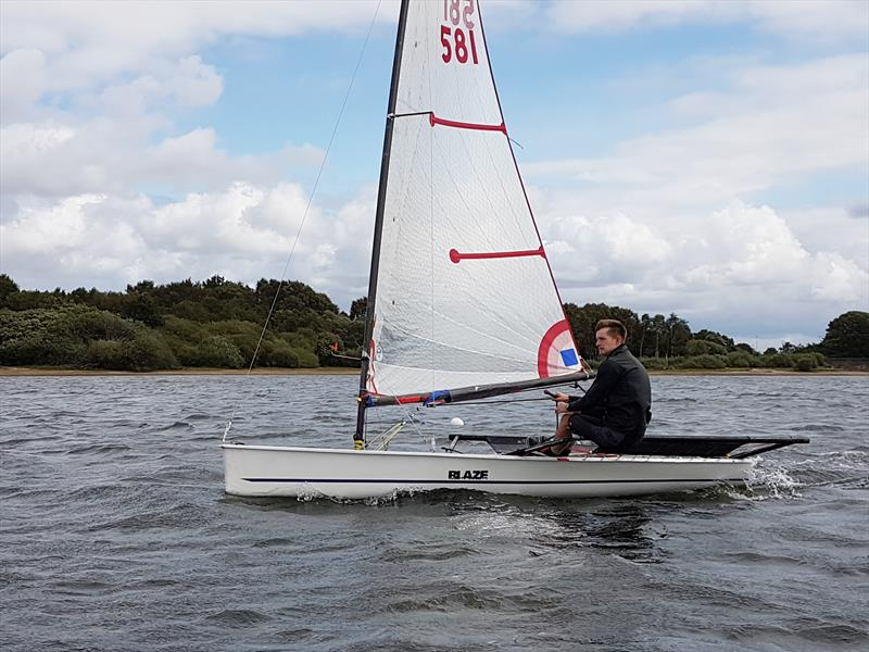 Former Blaze National Champion Eden Hyland photo copyright Michelle Evans taken at Chase Sailing Club and featuring the Blaze class