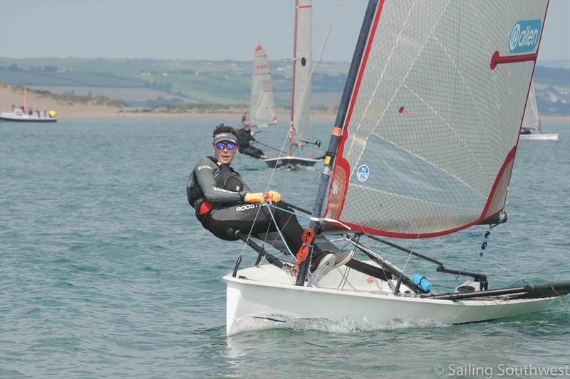 Ben Harden sails an older Blaze fitted with new Allen hardware - photo © Lottie Miles Photography