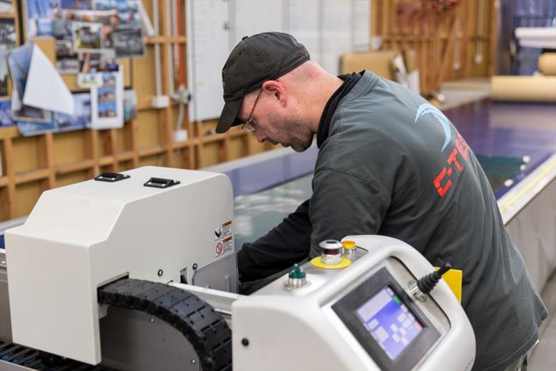 C-Tech's 5 axis Routech R200 CNC router in combination with the Eastman S125 plotter and autoclave it completes ... - photo © Brydon Photography