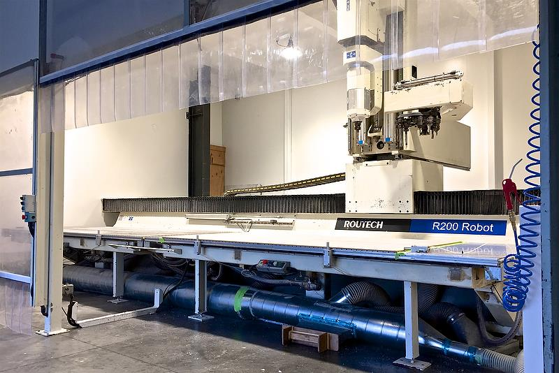 C-Tech's 5 axis Routech R200 CNC router is now operational in its purpose built room - photo © C-Tech