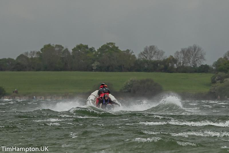 High winds during the Zhik Cadet Worlds Qualifier at Grafham Water - photo © Tim Hampton / www.timhampton.uk