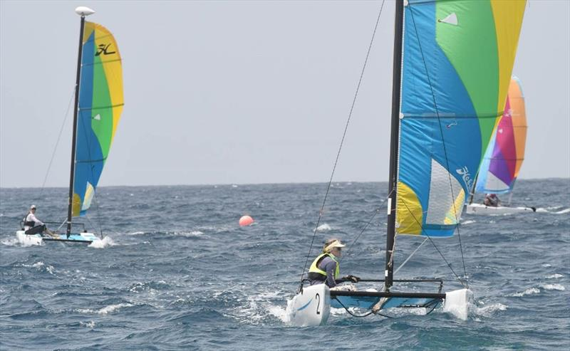 St. Thomas Yacht Club Invitational Regatta: The Hobie Wave Class exemplifies how easy it is to socially-distance in the sport of sailing - photo © Dean Barnes