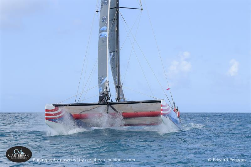 Arawak on Caribbean Multihull Challenge day 2 - photo © Edward Penagos