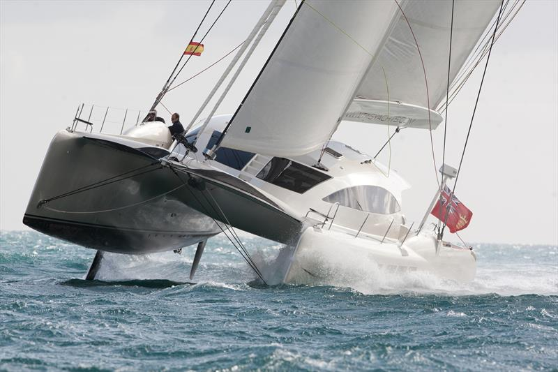 The Tag 60 catamaran, Stardust, owned by Ian Condor Smith, will be returning to the Whitsundays for Hamilton Island Race Week 2018. - photo © Andrea Francolini