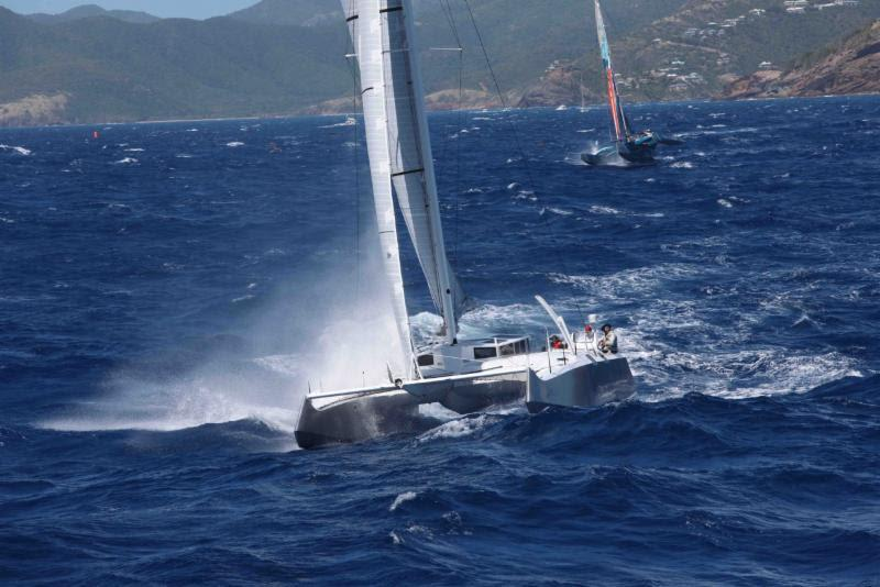 Greg Slyngstad's Bieker 53 catamaran will have well-known US sailor and Olympian, Jonathan McKee calling tactics for the BVI Spring Regatta - photo © Tim Wright / Photoaction.com