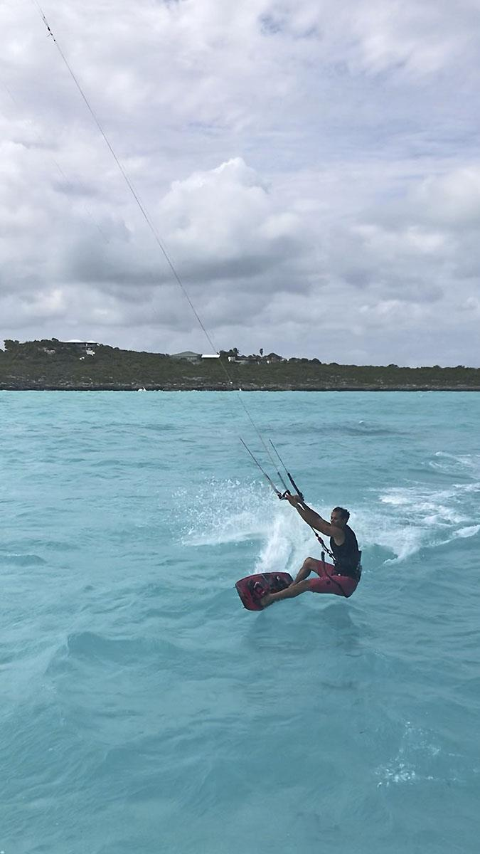 Kite surfer Dave Serrano in 'Disneyland' at the Turks and Ciacos Group. photo copyright Jason Chipp taken at  and featuring the Catamaran class