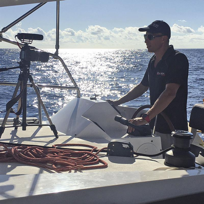 See! It is work... Making instructional videos. Sure. Sure. Sure.... photo copyright Jason Chipp taken at  and featuring the Catamaran class