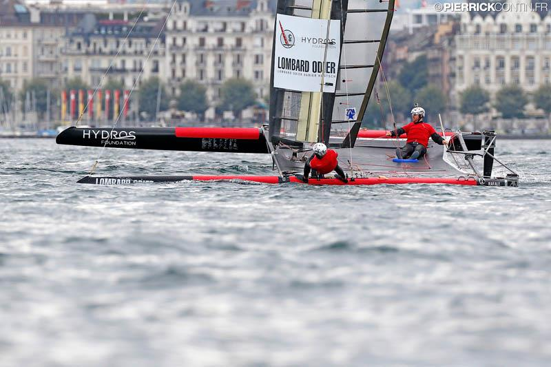 Fleet Race qualification day 2 in the Little Cup 2015 photo copyright Pierrick Contin / www.pierrickcontin.com taken at Société Nautique de Genève and featuring the C Class Cat class