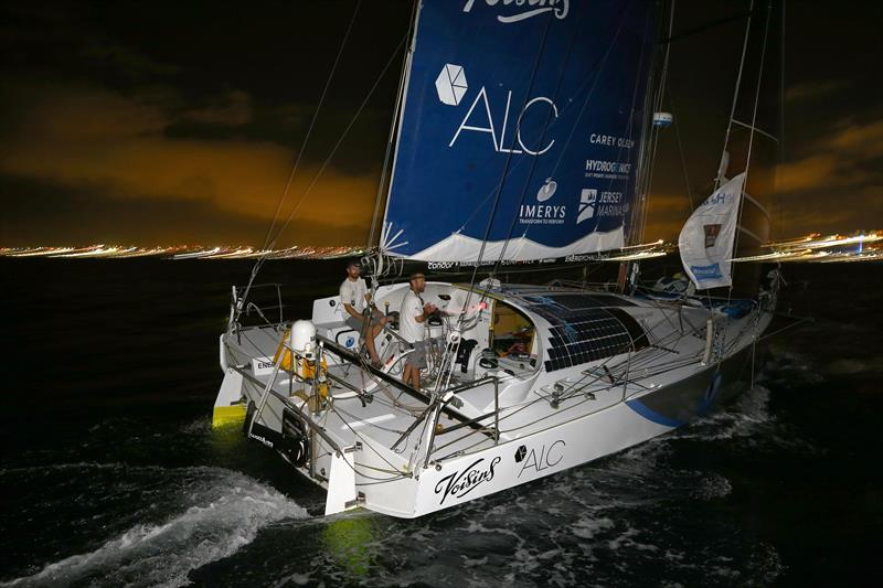 Phil Sharp and Pablo Santurde on Imerys Clean Energy finish 3rd in the Class 40s in the Transat Jacques Vabre 2017 - photo © Jean-Marie Liot / ALeA / TJV