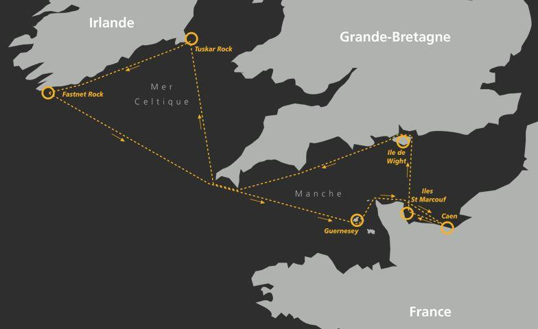 Normandy Channel Race 2020 course - photo © NCR2020