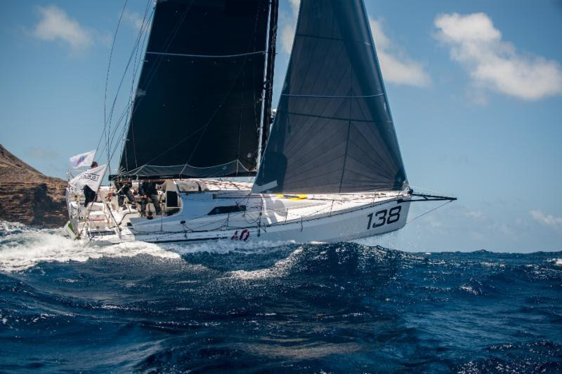 Arnt Bruhns Class40 Iskareen - Antigua Bermuda Race - Day 1 - photo © Ted Martin