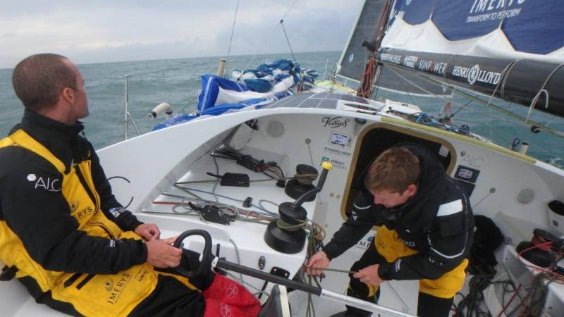 'Since start it turned into a great battle at front of Class 40 pack between Corum, Phorty and us. Nothing like some wind and rain to see us off, as a bit of a warning shot that we are not cruising Med and have some uncomfortable conditions ahead,' Phil - photo © Phil Sharp Racing
