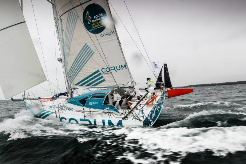 The crew are all Mini Transat winners on Nicolas Troussel's Class40 Corum - photo © Paul Wyeth / RORC