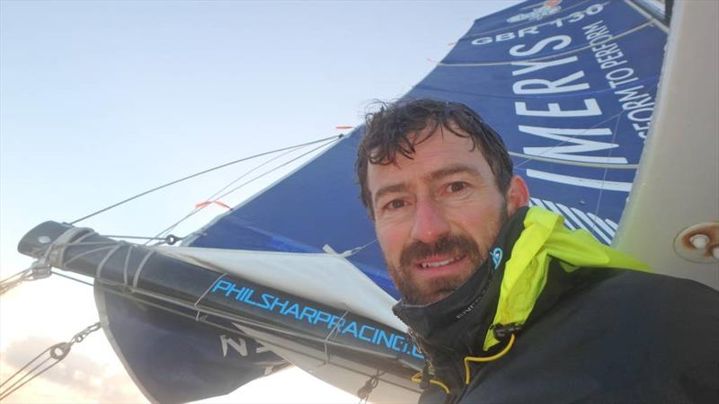 Phil Sharp on board Imerys Clean Racing after a tough start to the Route du Rhum-Destination Guadeloupe - photo © Phil Sharp