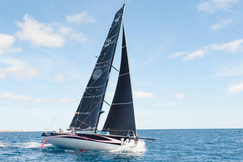 Day 3 - Catherine Pourre's Eärendil enjoying a battle with Hydra in the Class40 division - 2018 RORC Transatlantic Race - photo © RORC
