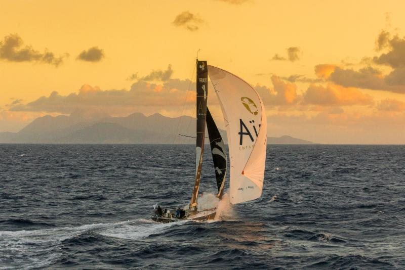 Sunset Redonda - Aymeric Chappellier's Aïna Enfance Et Avenir - 2019 RORC Caribbean 600 photo copyright RORC / Arthur Daniel taken at Royal Ocean Racing Club and featuring the Class 40 class