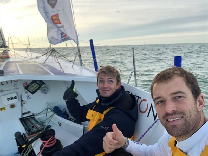 Fabien Delahaye Navigateur and Sam Goodchild Sailing - Transat Jacques Vabre day 8 - photo © Event Media